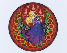 Sleeping Beauty stained glass disney/kingdom hearts painting