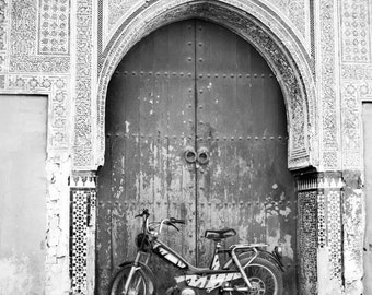 Set of four 4' x 6 ' Marrakech, Morocco - Fine Art Print, black and white, Moroccan Art,Marrakesh, Morocco, Mosaic Door, Travel Photo,