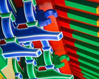 Temple Colours. Hong Kong. Asia. Travel Photography. Fine Art Print. Wall Art. Buddhist Temple Scene. Colourful Picture.