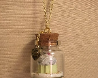 Cupcake in a Jar Necklace