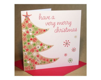 Christmas Tree Card  (jewelled)