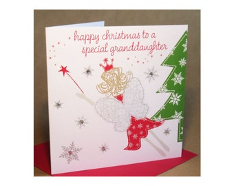 Christmas Granddaughter Card  (jewelled)