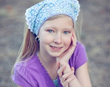 Girl's Kerchief Headcovering Purple Fashion Kerchief Triangle Head Cover Alopecia Headwrap Hair Loss Head Wrap No Slip Head Cover (#3222)