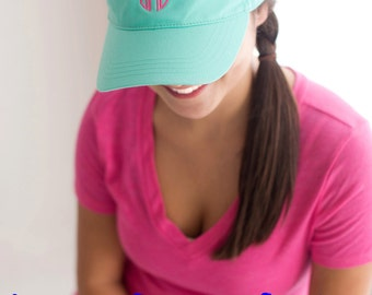 Monogrammed Sun Hat Visors. Personalized Sun Visors. Bridesmaid Gifts. Greek Sun Visor. Sorority Visors.