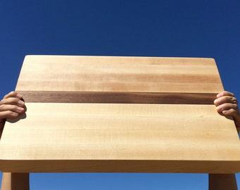 Thick Maple/ Black Walnut Cutting Board