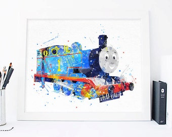 Thomas the Train printables, Thomas the Tank Engine, thomas and friends, tomas poster, Nursery tomas print, nursery wall art, nursery poster