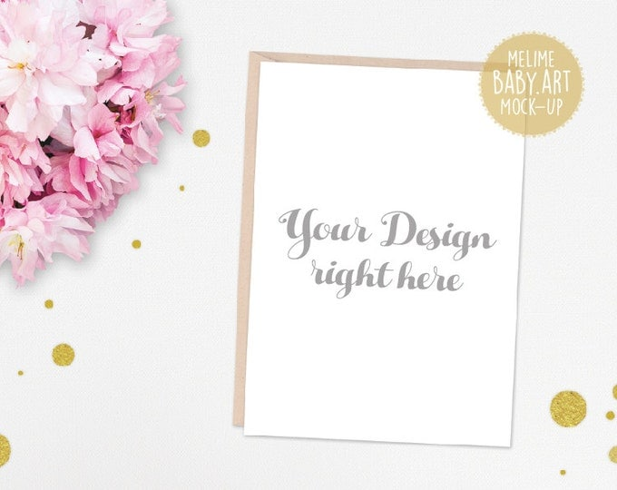 Cards Mockups, 5x7 Invitations Mockup, Styled Photography Mock Up, Shabby Chic Photography, 5x7 Card Invite Mockup (5x7.White)