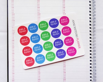 Bright Bible Stickers, Bible Stickers, Planner Stickers, Mambi Stickers, Erin Condren Stickers, Happy Planner Stickers, Functional Stickers