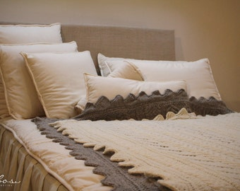 Wool filled pillows with memory foam core / Pillow cover insert