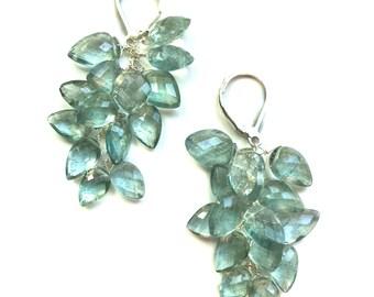 Moss Aquamarine Earrings