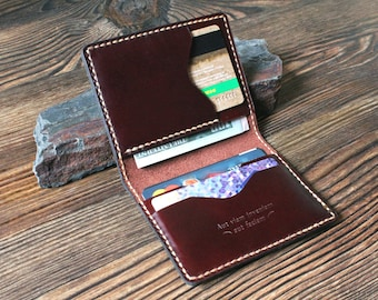Mens gift Card holder Groomsmen gift Anniversary gift Personalized gift for him gift for father Leather wallet mens wallet Card wallet slim