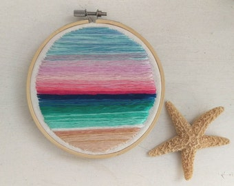 Beach embroidery