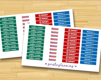 Shopping Header Bars Erin Condren Life Planner Stickers - 40 per sheet
