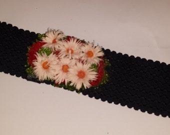 Belt sash flowers
