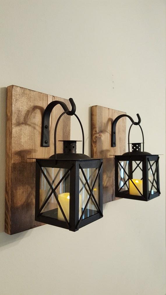 Walll lanterne paire de crochets en fer forg des planches de for Appliques murales en fer forge