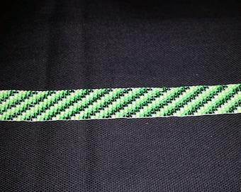 Handmade Bracelet, Shades of Green, Loom Beaded