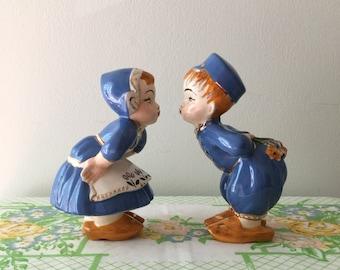 Vintage 6 Inch Dutch Kissing Couple