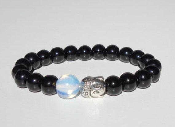 mens beaded bracelet mens black onyx by souljewelryolih on