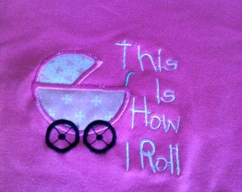 9 -12 month old Baby Grow with Machine Embroidered and Appliquéd Front