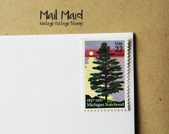 Vintage Michigan Statehood Postage Stamps || Set of 10 unused stamps
