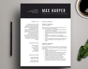 resume template for ms word professional resume design cover letter 1 page resume