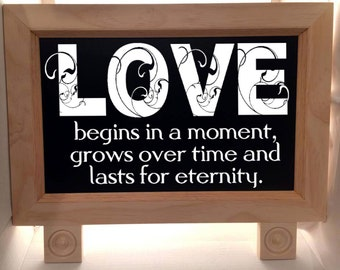 Wedding Sign - Chalkboard Sign - Rustic Chic Wedding - Wedding Welcome Sign - LOVE