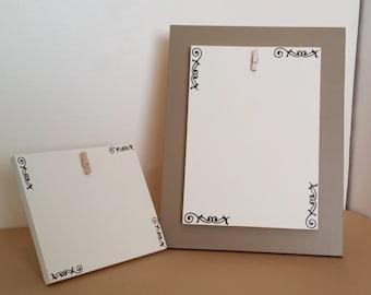 Picture Frame Set, 5 x 7 picture frame, 4 x 6 picture frame, photo holder, Brown picture frame, Picture Frame Set, cream picture frame