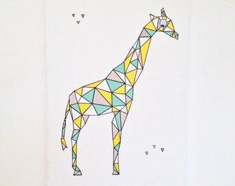 Geometric and animal child wallchart