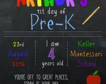 Short and Sweet Digital Back To School Chalkboard