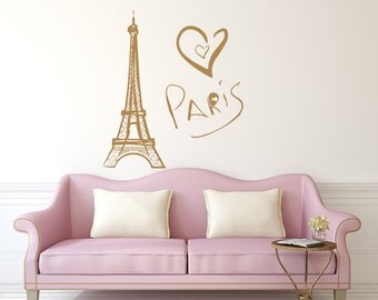 Eiffel Tower Wall Decal Paris Silhouette Vinyl Stickers Decals Art Home  Decor Mural Vinyl Lettering Wall Part 86