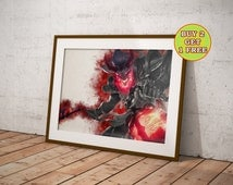 League of Legends, Blood Moon Thresh, Lol Poster, League of Legends Poster, League of Legends Art, Gamer Gifts, Geek Gifts OC-608