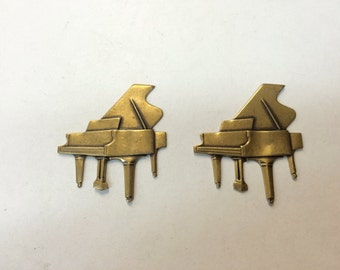 Brass Stamping - Brass Grand Piano - Set of 2