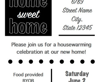 Housewarming Party Invitation - Digital Design, Fully Customizable