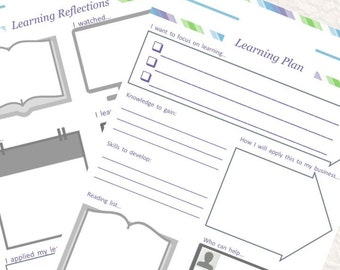 Learning Reflections & Plan Printable