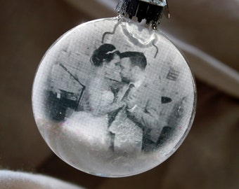Mr. and Mrs. ornament Mr & Mrs ornament First Christmas Together First Married Christmas Photo Ornament Newlywed Christmas Ornament