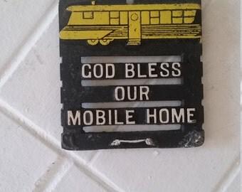 God Bless our Motor Home trivet or wall art