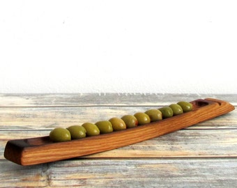 Olive Boat, Hostess Gift, Foodie Gift, Engagement Gifts For Couples, Olive Dish, Olive Tray, Long Wood Tray, Wooden Serving Board