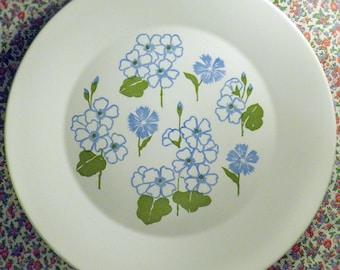 Large Retro Floral Serving Plate