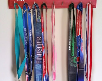 "Handmade Running Medal Display ""'Indiana' Runner"""