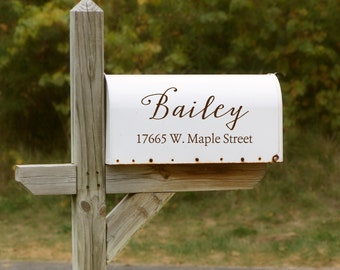 Decorative Mailbox Decal - Mailbox Sticker - Vinyl Mailbox Decal - Custom Address Mailbox Decal
