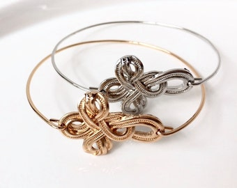 Cheeky & Charming-Knotted Cross Two Bangle Set