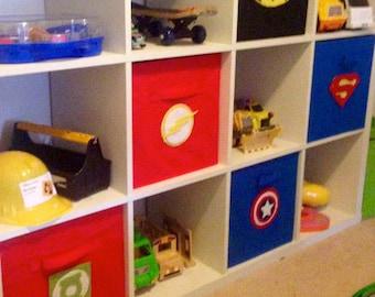 Superhero Storage box - 6 pack