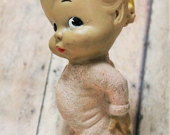 Vintage 1956 Dreamland Rubber Toy-Squeak doll toy-Little girl Dreamland toy-dreamland creations-Vintage toys