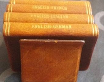 Midget Series Dictionaries, Burgess & Bowes Ltd., English, French, German, Spanish, Italian Books