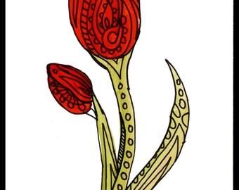 Single Painted Flower