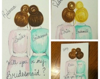 Cards to ask your friends to be your bridesmaids