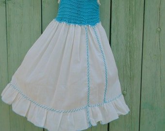 Girl dress for 4 years of crochet