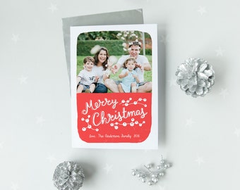 Christmas card, Personalized Christmas card, Custom photo Christmas card, Christmas family photo card, Christmas rintable card, Merry Xmas