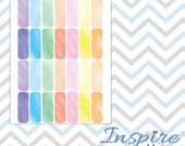 Watercolor Collection ~ Quarter Boxes ~ Planner Stickers