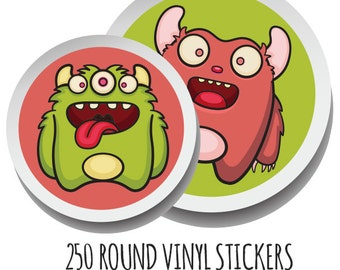 Custom Stickers, Custom Labels, Product Labels, Personalized stickers, Personalized Labels, custom circle stickers, 250 Round Stickers